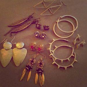 Lot of earrings- Juicy, UO, F21, Betsey Johnson